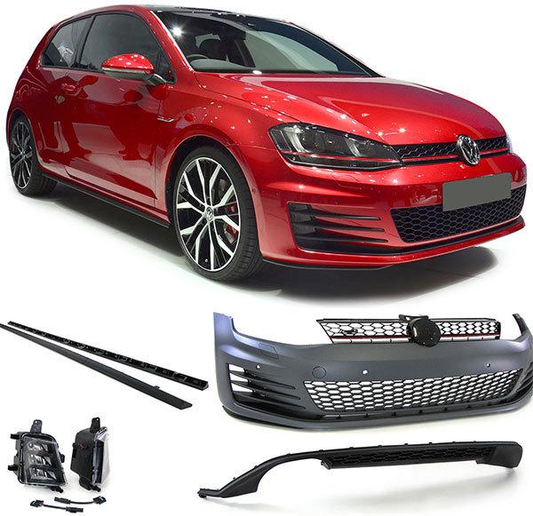 kit carrosserie complet vw golf vii look gti en abs avec calandre liser rouge sp newconcept. Black Bedroom Furniture Sets. Home Design Ideas