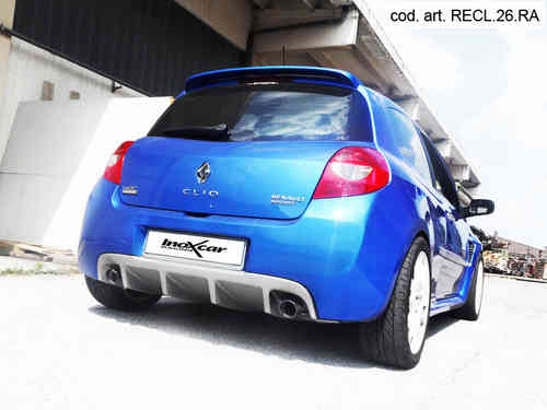 Silencieux arrière Inoxcar sortie 80 RACING Renault CLIO 3 RS 2.0 16V (197cv) 2006-2009