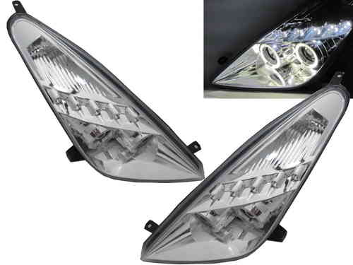 Paire de phares angel-eye + LED pour toyota CELICA 1999-2006 CHROME