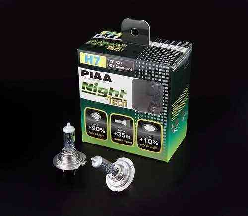 2 AMPOULES PIAA NIGHT TECH H7 12V 55W ->100w