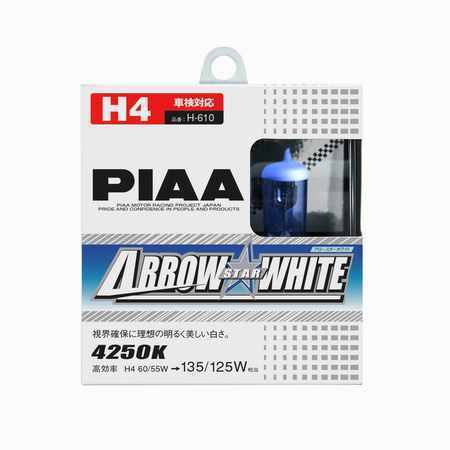 2 AMPOULES ARROW STAR WHITE H4 12V 60/55W -> 135/125W