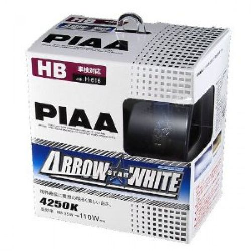 2 Ampoules HB3 HB4 PIAA Arrow Star White 4250K - PIAA