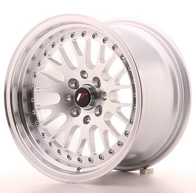 "Jante Japan Racing JR-10 15x9"" 4x100/114.3 ET10, Gris Argenté / Poli"