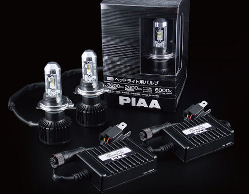 SYSTEME DE CONVERSION EN LED PIAA H4 (9003) 3600/2600lm 6000K