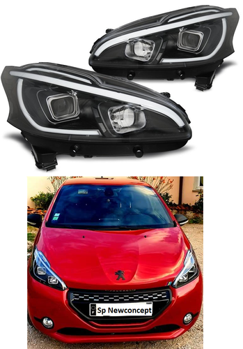 Peugeot 208 LTI LED headlights look xenon - Black