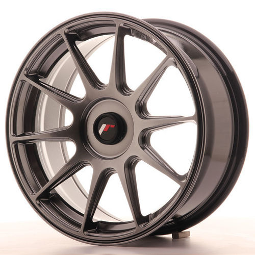 "4 Japan Racing JR-11 17x7.25"" 4x108 ET35, Hyper Black"