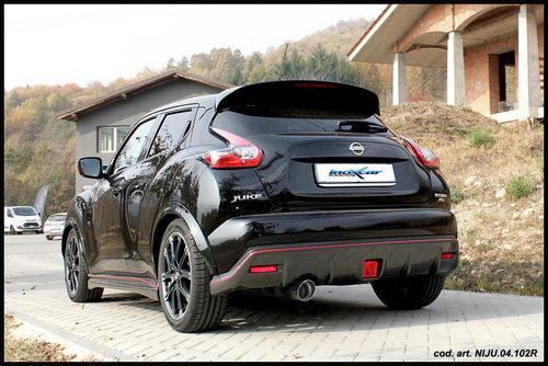 Silencieux arrière Inoxcar sortie 102 RACING pour Nissan JUKE NISMO RS 1.6 (218cv) 2WD 2015-