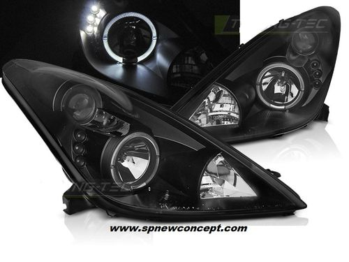 phare avant TOYOTA CELICA T23 99-05 ANGEL EYES BLACK